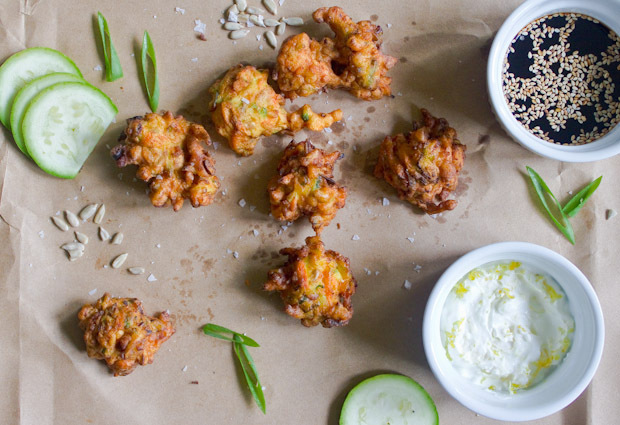 Zucchini, Carrot, and Scallion Fritters